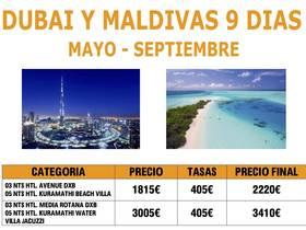 DUBAI Y MALDIVAS 9 DÍAS